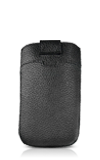Tribeca Black Leather Pouch - Universal