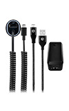 AT&T Power Bundle (Wall/Car/Braided Cable) - USB Type C Cable