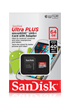 SanDisk Ultra PLUS microSDXC UHS-I Card with Adapter