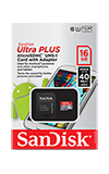 SanDisk Ultra microSDXC UHS-I Card with Adapter - 16GB