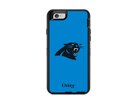 OtterBox Defender Series NFL Carolina Panthers Case and Holster for iPhone 6/6s