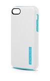 Incipio White/Aqua Blue DualPro Gel Shell Case - iPhone® 5c