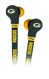 Zeikos FlatCord Earbuds NFL Green Bay Packers