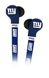 Zeikos FlatCord Earbuds NFL New York Giants
