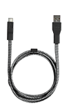 Neve 3ft Woven Type C to USB Cable Black