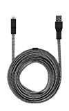 Neve 10ft Woven Lightning Cable to USB Black