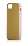 Lenntek Sonix Glossy Gold Case with Pink Gel - iPhone® 5/5s