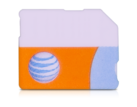 AT&T-SIM Card for iPhone 5 series-Orange