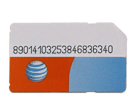 AT&T-Standard SIM Card - Phones-Black